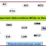 18 Important Abbreviations MCQs on Resistors
