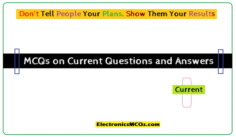 MCQs on Current Questions and Answers