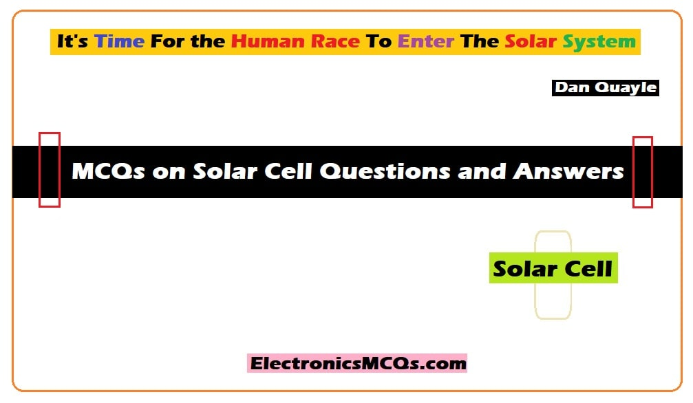 MCQs on Solar Cell Questions and Answers