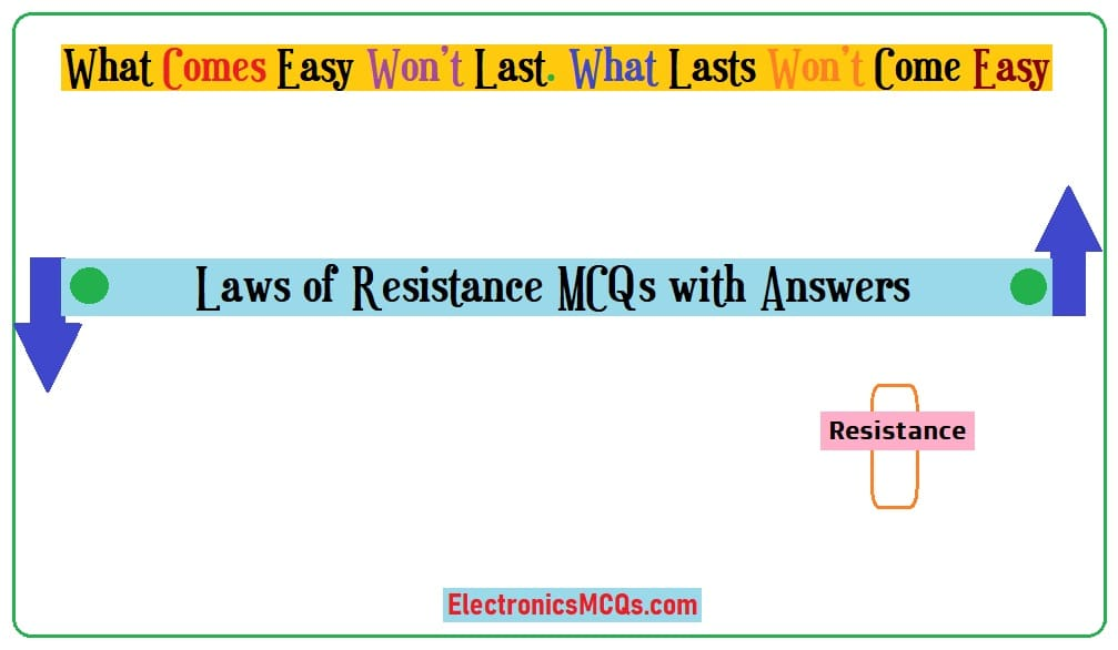 Laws of Resistance MCQs with Answers