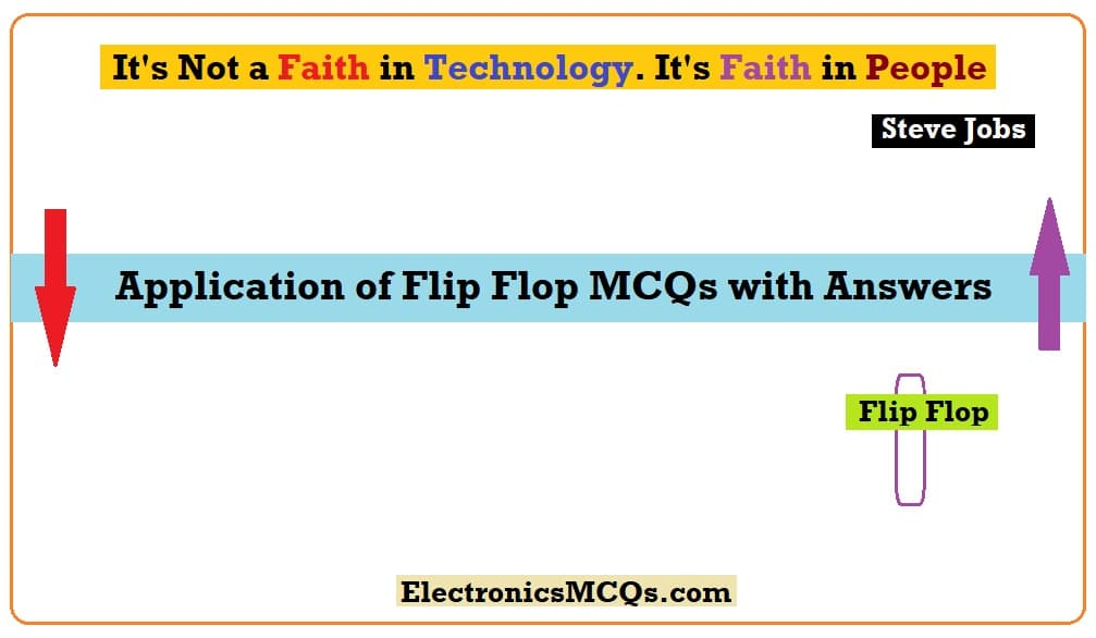 Application of Flip Flop MCQs with Answers