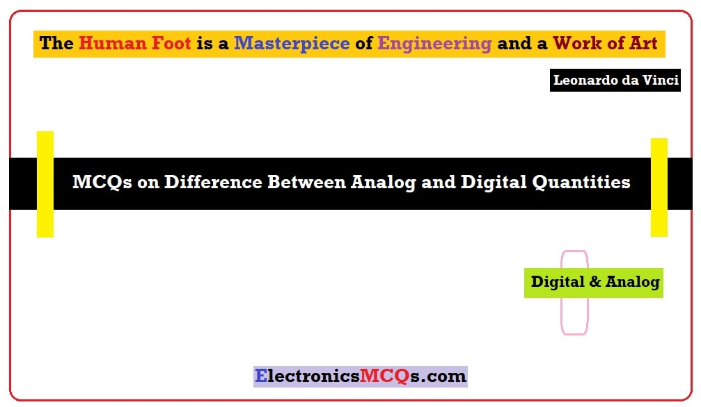 MCQs on Difference Between Analog and Digital Quantities