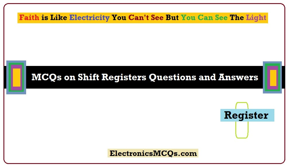 MCQs on Shift Registers Questions and Answers
