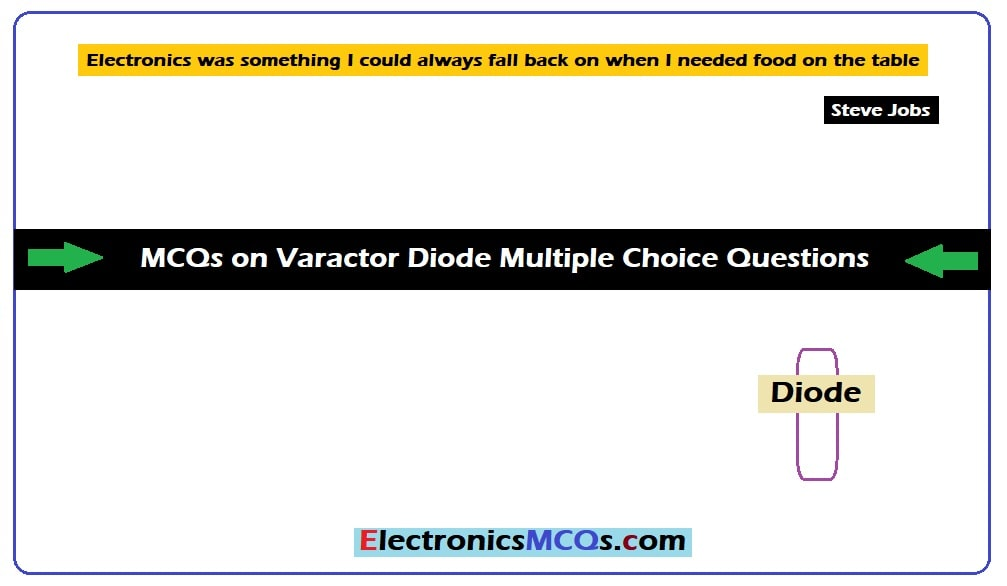 MCQs on Varactor Diode Multiple Choice Questions