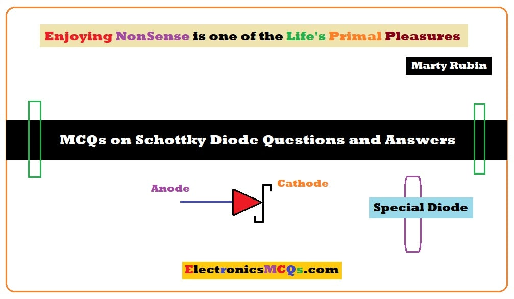 MCQs on Schottky Diode Questions and Answers